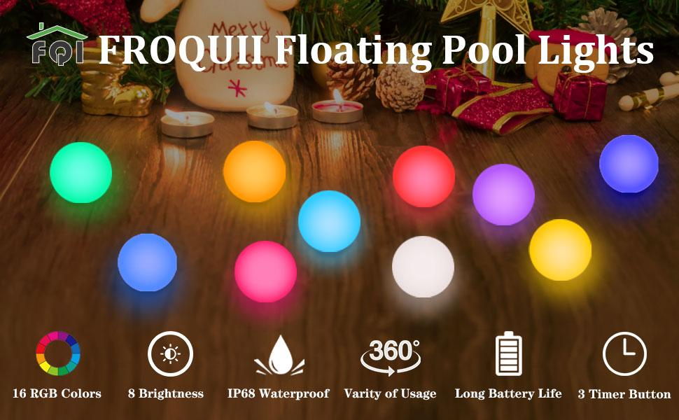 733416e7 7854 4f55 9fce a58e72cdc1c1.  CR0,0,970,600 PT0 SX970 V1    - FROQUII Floating Pool Lights, 16 Colors Pond LED Ball Lights with Remote Control, Waterproof Cordless Hot Tub Lights Kids Night Light Ball Lamp for Pool Garden Backyard Lawn Beach Party Decor (1pcs)
