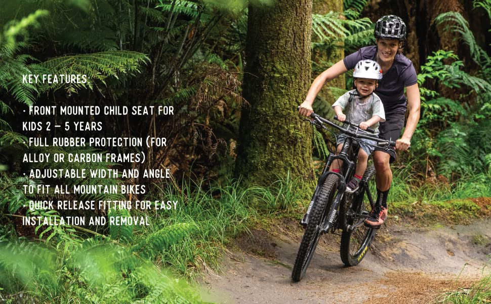 75cca218 4941 4aba b288 c70192be53e3.  CR75,0,970,600 PT0 SX970 V1    - SHOTGUN Kids Bike Seat for Mountain Bikes | Front Mounted Bicycle Seats for Children 2-5 Years (up to 48 Pound) | Compatible with All Adult MTB | Easy to Install