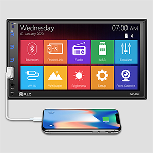 89d040c1 7e59 4999 98c8 1317a4cc7b37.  CR0,0,300,300 PT0 SX300 V1    - P.L.Z MP-800 Car Entertainment Multimedia System – 7 Inch Double Din HD Touchscreen Monitor Car Stereo – MP5 Player Bluetooth Car Radio Receiver – Supports Rear Front View Camera, MP3, USB, AUX