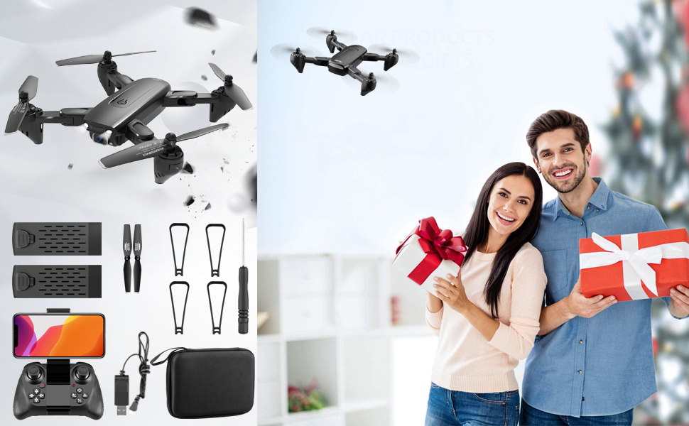 8ff2782f b638 4fa9 a7b0 b684cdc9fcfb.  CR0,0,970,600 PT0 SX970 V1    - 4DRC Drone with 1080P HD Camera, 2 Batteries and Carrying Case, FPV Live Video Camera,RC Quadcopter for Adults kids,with Auto Hover,3D Flip,Headless Mode,One Key Start,Waypoints Functions