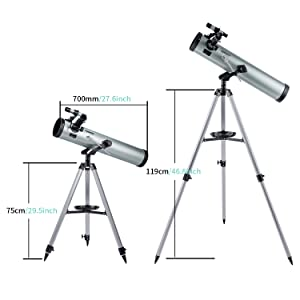 9c20df84 0448 4527 82c2 c96ef70e6633.  CR0,0,1500,1500 PT0 SX300 V1    - Astronomical Telescope for Kids and Astronomy Beginners, 700mm/76mm Starter Scope Good Partner to View Landscape and Planet, with Tripod, Wire Shutter, Phone Adapter