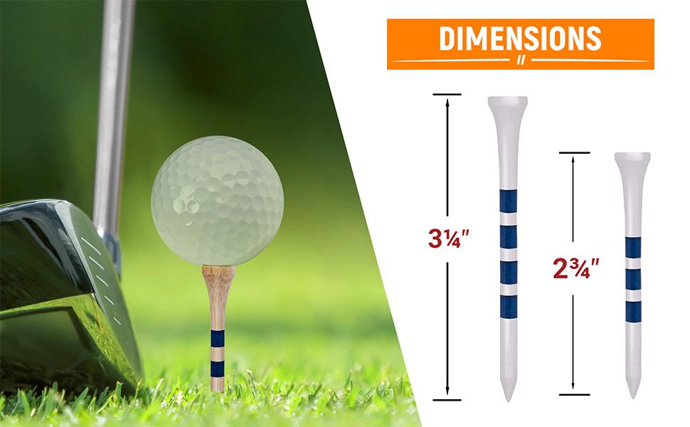 """9e38a928 d7f6 4b4f bd33 fd4d54dcf1cb.  CR0,0,970,600 PT0 SX970 V1    - EAGLE WORK Bamboo Golf Tees, 4 (1-1/2"""", 2-1/8"""", 2-3/4'' & 3-1/4''), Pack of 150/100 Professional Tees, Reduce Friction & Side Spin, More Durable and Stable Golf Tees"""