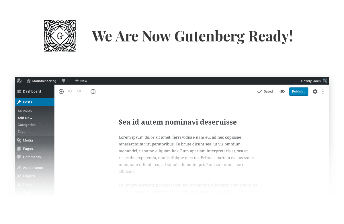Gutenberg Supported - Ink — A WordPress Blogging theme to tell Stories