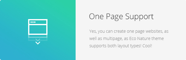 One Page Support - Eco Nature - Environment & Ecology WordPress Theme