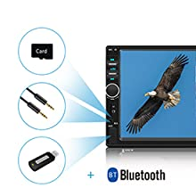 a1078af9 e456 4947 85ea 78b3c6aa4b1a.  CR0,0,275,275 PT0 SX220 V1    - Car Stereo 2 Din,7 inch Touch Screen MP5/MP4/MP3 Multimedia Player,Bluetooth Audio,Car Stereo Receivers,FM Radio,USB/SD/AUX Input,Mirror Link,Support Steering Wheel Remote Control,Rear View Camera