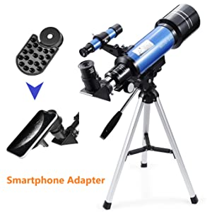 b4fcf359 3255 4a98 a8a6 f5edd33f9aa7.  CR0,3,1362,1362 PT0 SX300 V1    - MaxUSee 70mm Refractor Telescope with Tripod & Finder Scope for Kids & Astronomy Beginners, Portable Telescope with 4 Magnification eyepieces & Phone Adapter