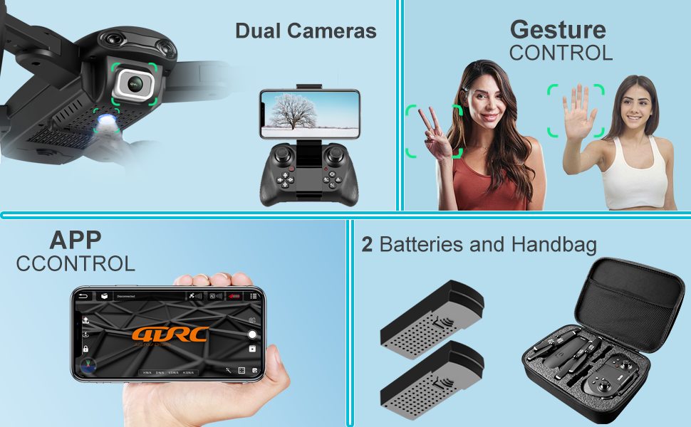 b6f6d930 a6b3 4135 952d 4df6ae808e94.  CR0,0,970,600 PT0 SX970 V1    - 4DRC Drone with 1080P HD Camera, 2 Batteries and Carrying Case, FPV Live Video Camera,RC Quadcopter for Adults kids,with Auto Hover,3D Flip,Headless Mode,One Key Start,Waypoints Functions
