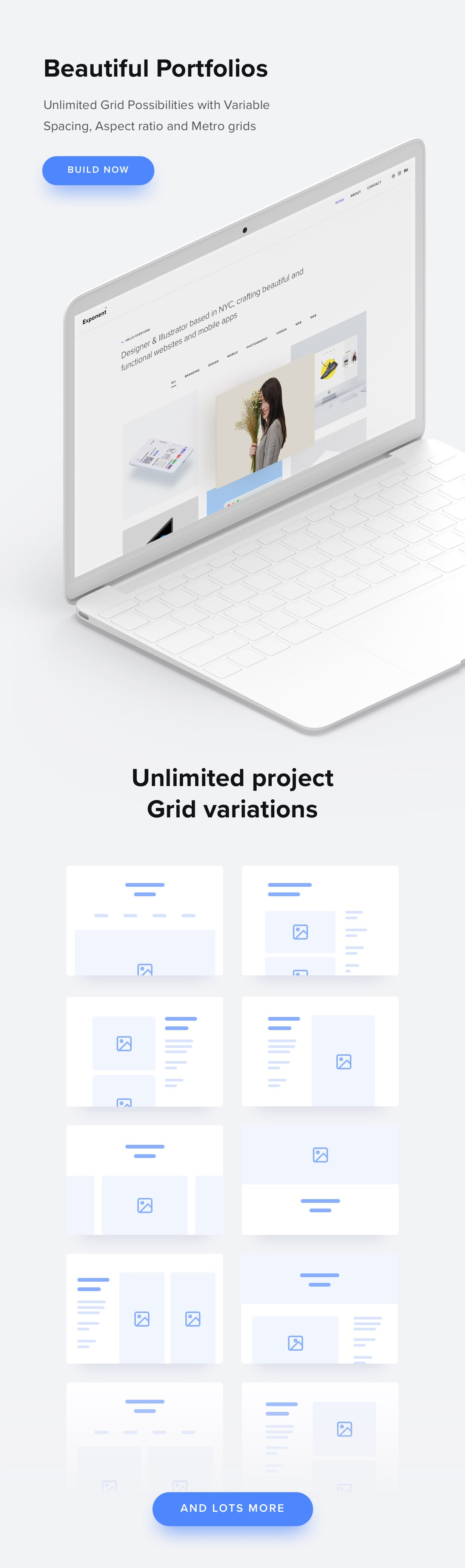 beautiful portfolios - Exponent - Modern Multi-Purpose Business WordPress theme