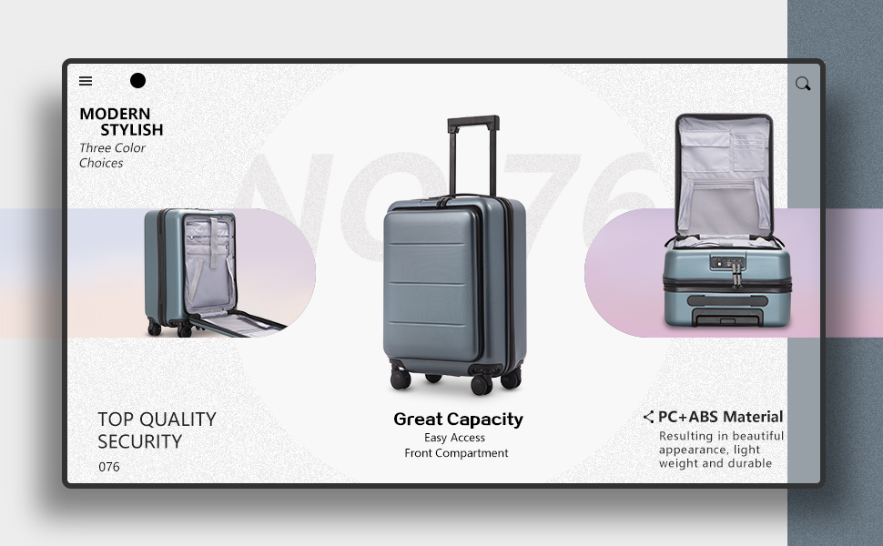 bfb1eefb 2086 4eca 8224 e2a829bd3872.  CR0,0,970,600 PT0 SX970 V1    - COOLIFE Luggage Suitcase Piece Set Carry On ABS+PC Spinner Trolley with pocket Compartmnet Weekend Bag (Sakura pink, 20in(carry on))