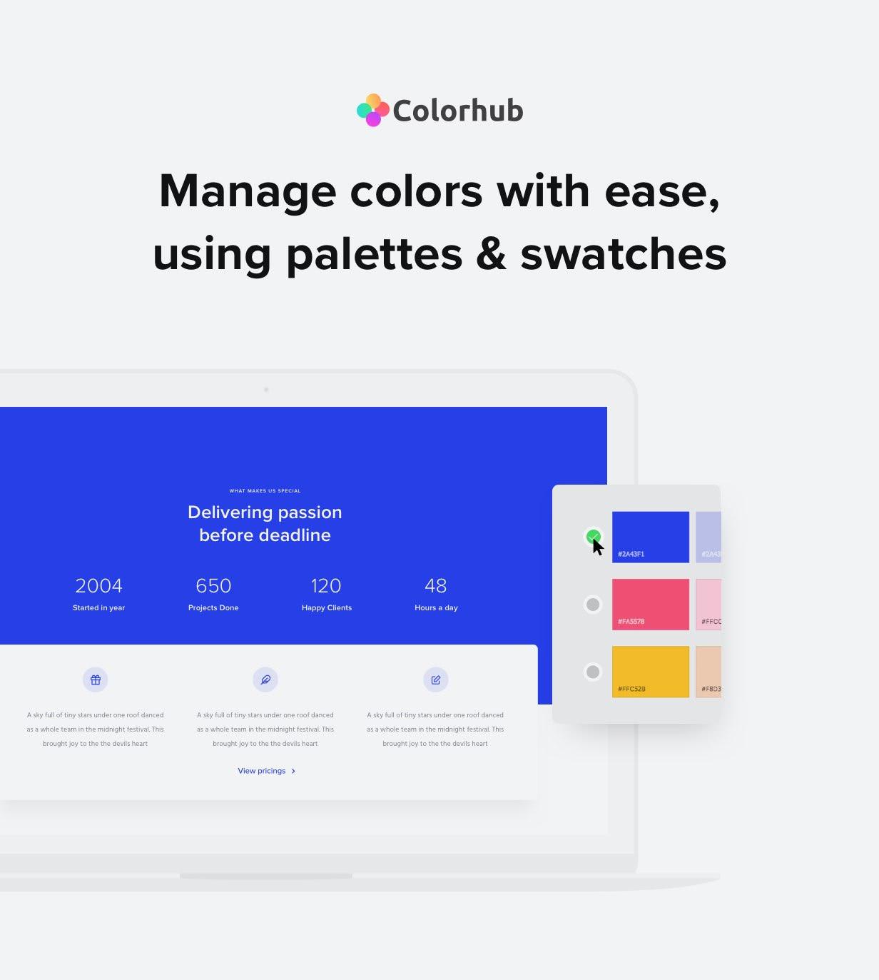 colors - Exponent - Modern Multi-Purpose Business WordPress theme