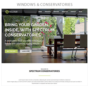 conservatories - Spectrum - Multi-Trade Construction Business Theme