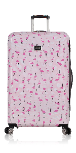 d405768e d81b 4eae 99de a3fe05df080c.  CR0,0,150,300 PT0 SX150 V1    - Betsey Johnson Designer 20 Inch Carry On - Expandable (ABS + PC) Hardside Luggage - Lightweight Durable Suitcase With 8-Rolling Spinner Wheels for Women (Covered Roses)
