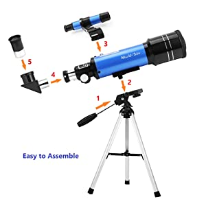 d8fd48a5 c572 4d91 b287 20123c795756. CR44,0,2374,2374 PT0 SX300   - MaxUSee 70mm Refractor Telescope with Tripod & Finder Scope for Kids & Astronomy Beginners, Portable Telescope with 4 Magnification eyepieces & Phone Adapter