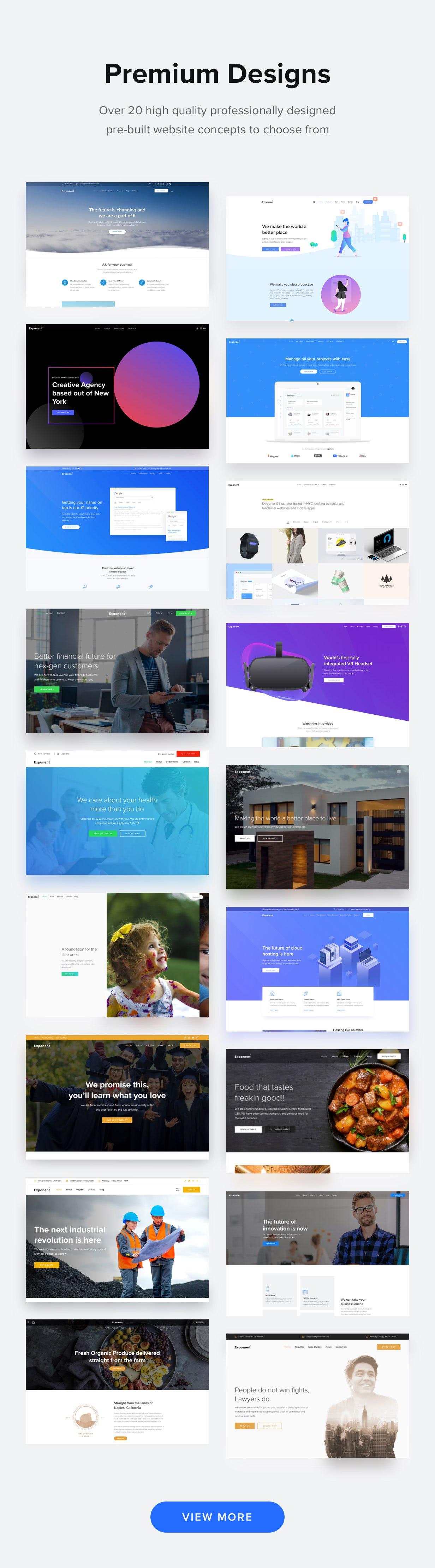 demos - Exponent - Modern Multi-Purpose Business WordPress theme