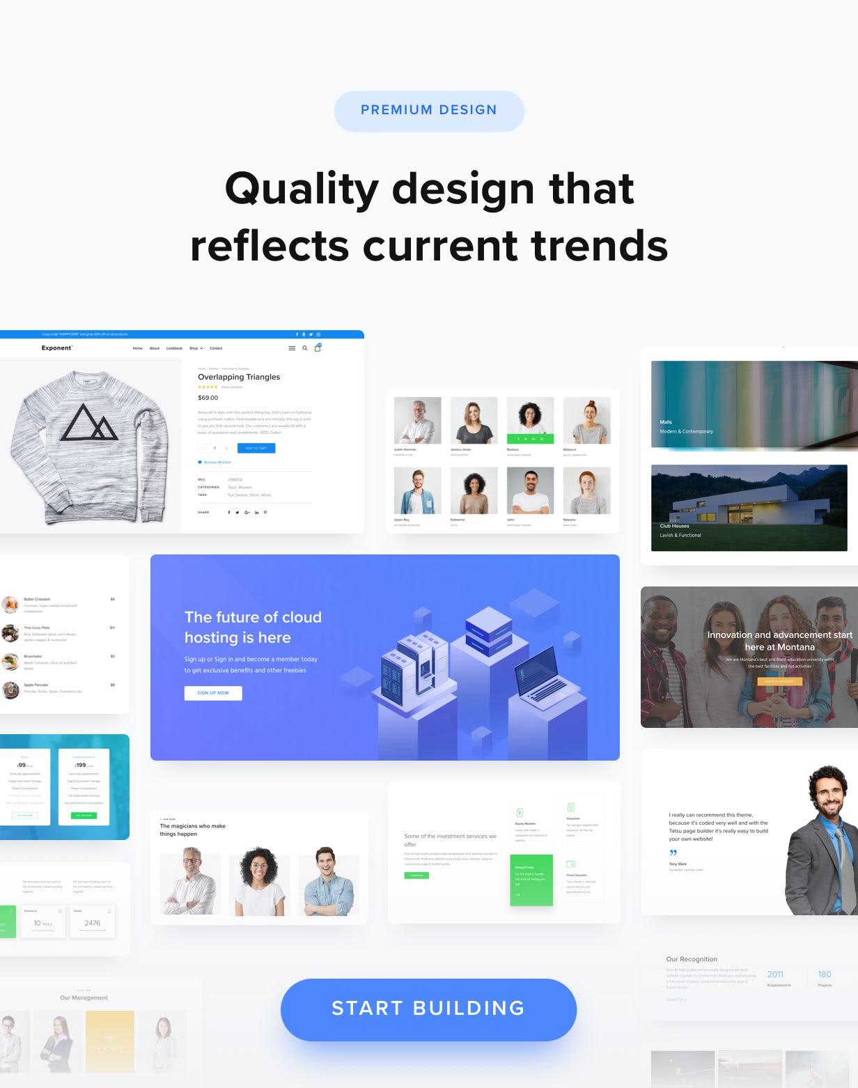 design quality - Exponent - Modern Multi-Purpose Business WordPress theme