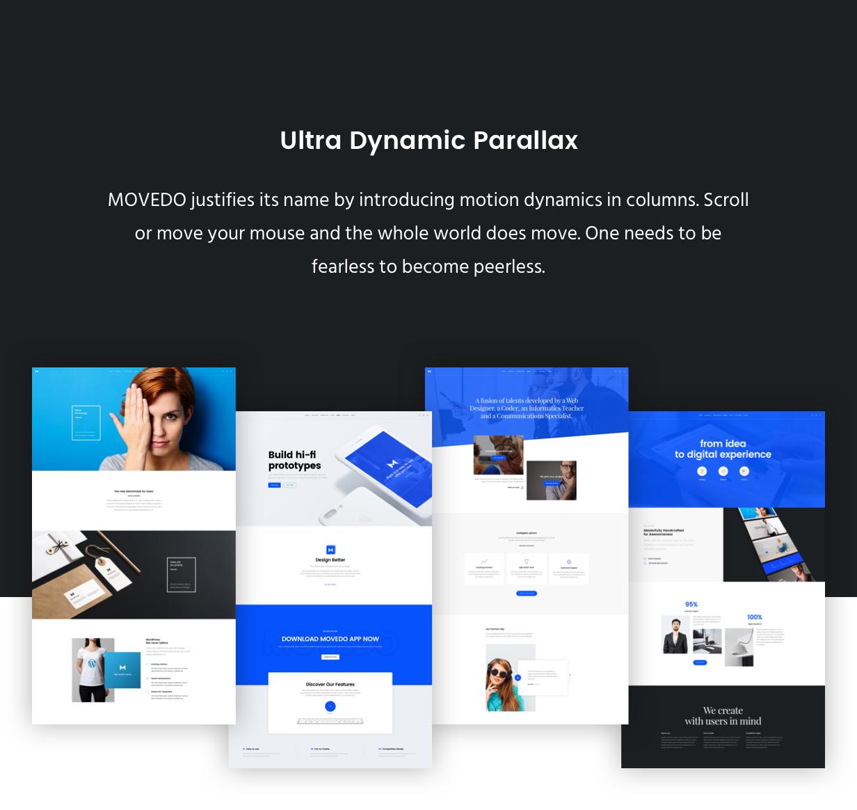 dynamic parallax - Movedo - Responsive Multi-Purpose WordPress Theme