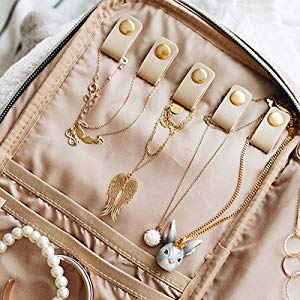 e2cea407 2a9d 4697 a7a6 1f4e3c7ad116. CR0,0,300,300 PT0 SX300   - BAGSMART Jewelry Organizer Case Travel Jewelry Storage Bag for Necklace, Earrings, Rings, Bracelet, Soft Pink