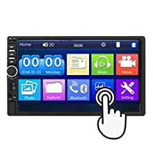 fce8ddf8 347a 4bbc 8ae5 888b41aa3b46.  CR0,0,275,275 PT0 SX220 V1    - Car Stereo 2 Din,7 inch Touch Screen MP5/MP4/MP3 Multimedia Player,Bluetooth Audio,Car Stereo Receivers,FM Radio,USB/SD/AUX Input,Mirror Link,Support Steering Wheel Remote Control,Rear View Camera