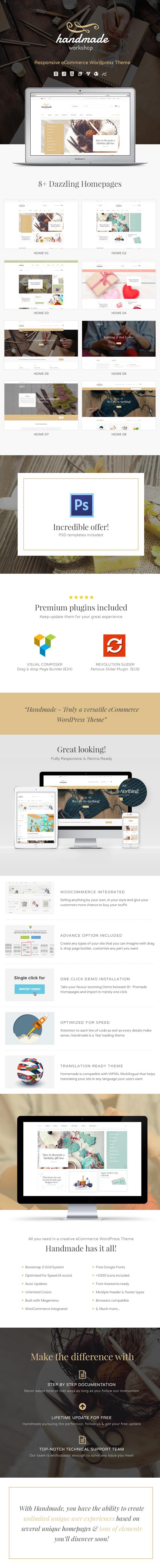 handmade description - Handmade - Shop WordPress WooCommerce Theme