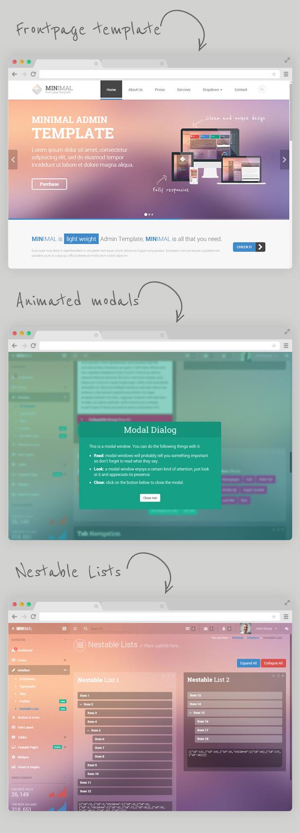 highlights new version 12 - Minimal - Responsive Admin Template