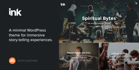 ink preview.  large preview - Ink — A WordPress Blogging theme to tell Stories