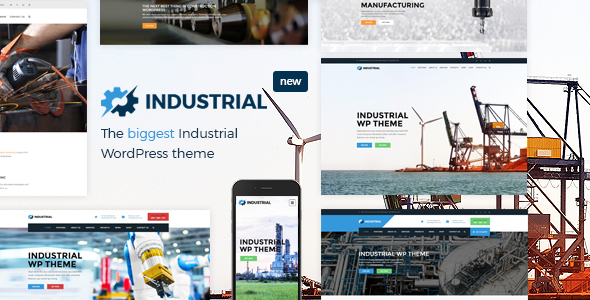 main screen.  large preview - Industrial - Factory Business WordPress Theme