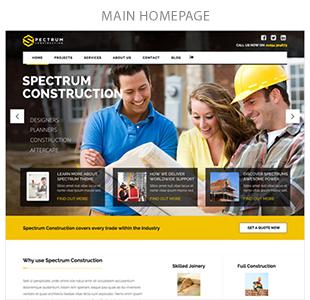 main homepage - Spectrum - Multi-Trade Construction Business Theme
