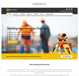minimal - Spectrum - Multi-Trade Construction Business Theme