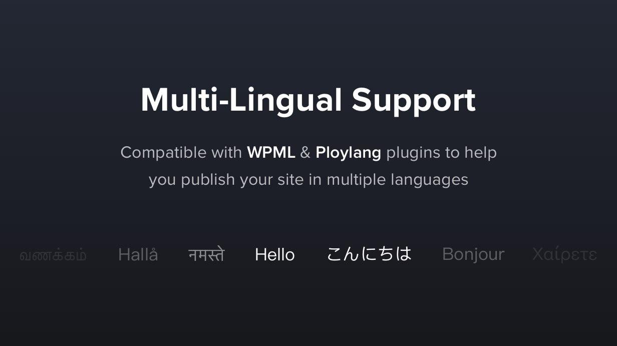 multi lingual - Exponent - Modern Multi-Purpose Business WordPress theme