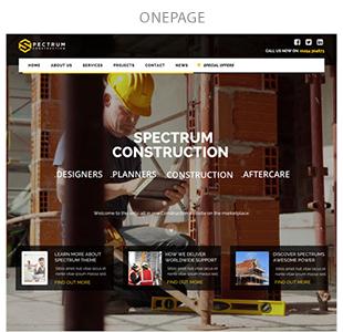 onepage - Spectrum - Multi-Trade Construction Business Theme