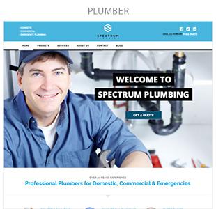 plumber - Spectrum - Multi-Trade Construction Business Theme