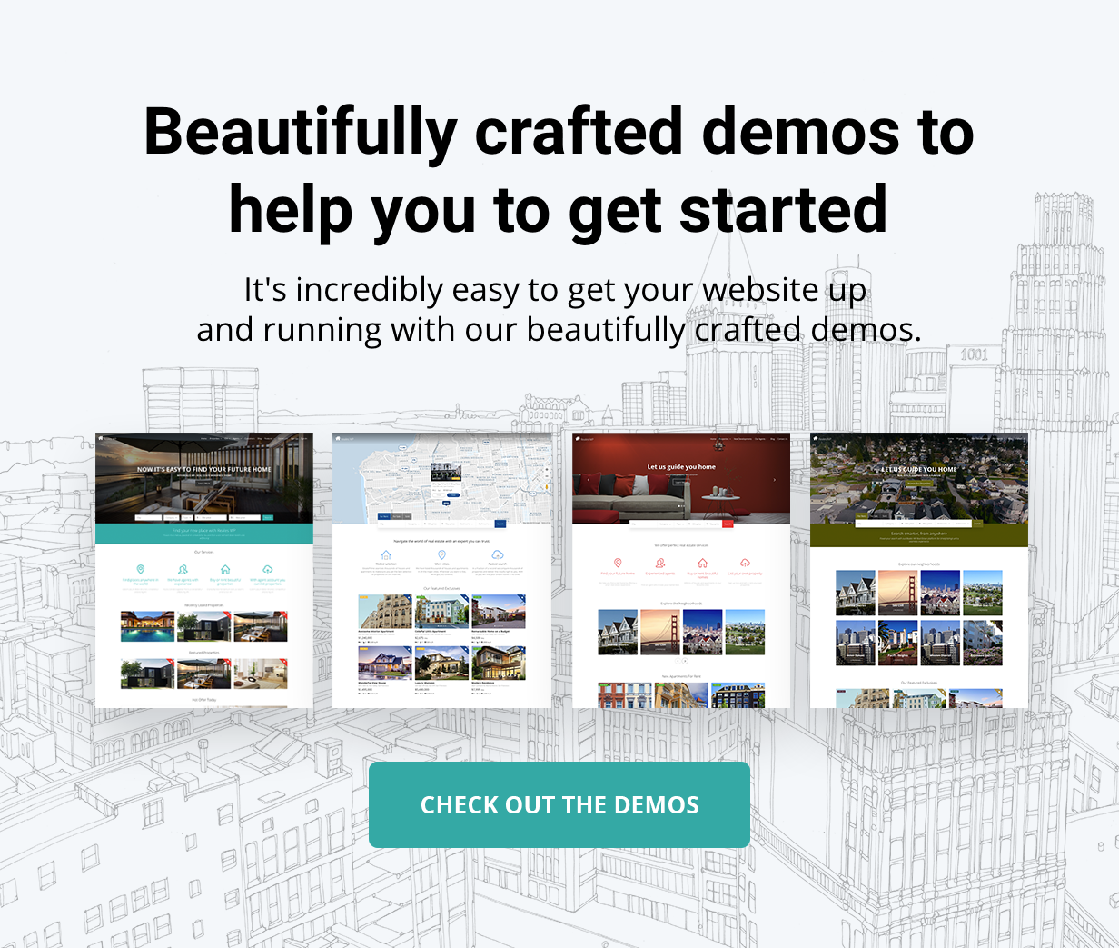 presentation demos - Reales WP - Real Estate WordPress Theme