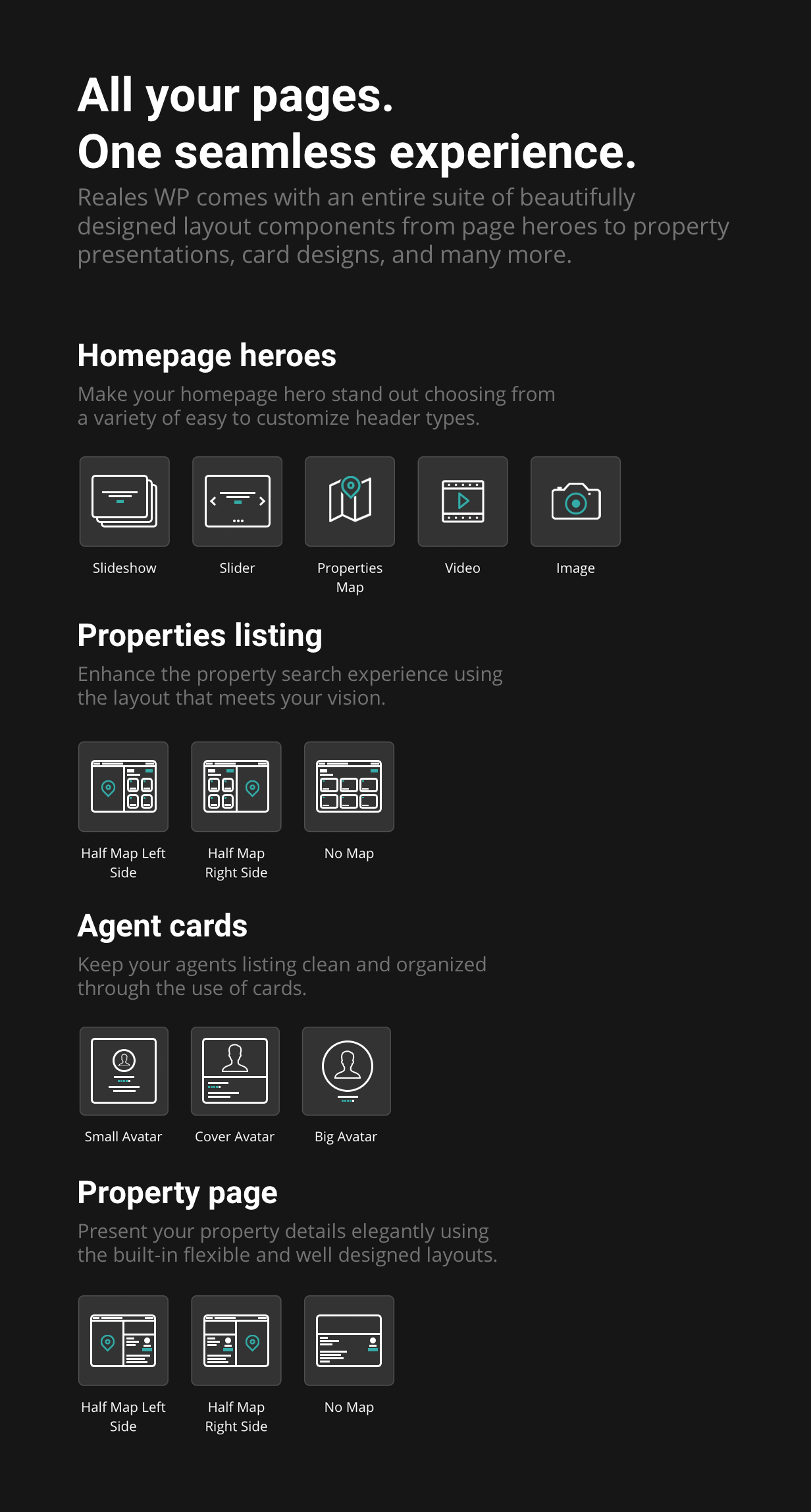 presentation features - Reales WP - Real Estate WordPress Theme