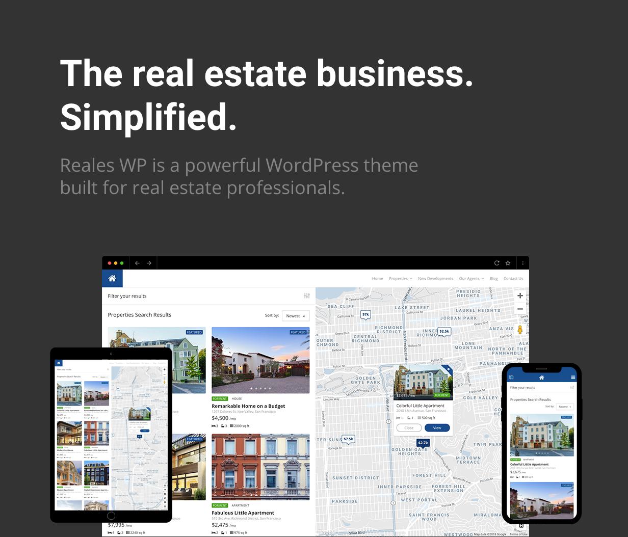 presentation intro - Reales WP - Real Estate WordPress Theme