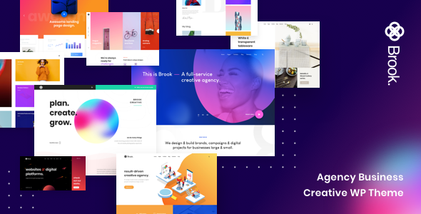 preview 2.  large preview - Brook - Agency Business Creative WordPress Theme