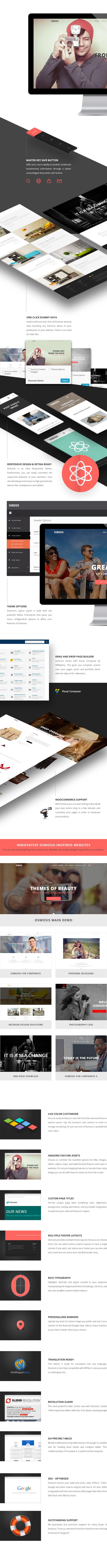 preview features - Osmosis - Responsive Multi-Purpose WordPress Theme