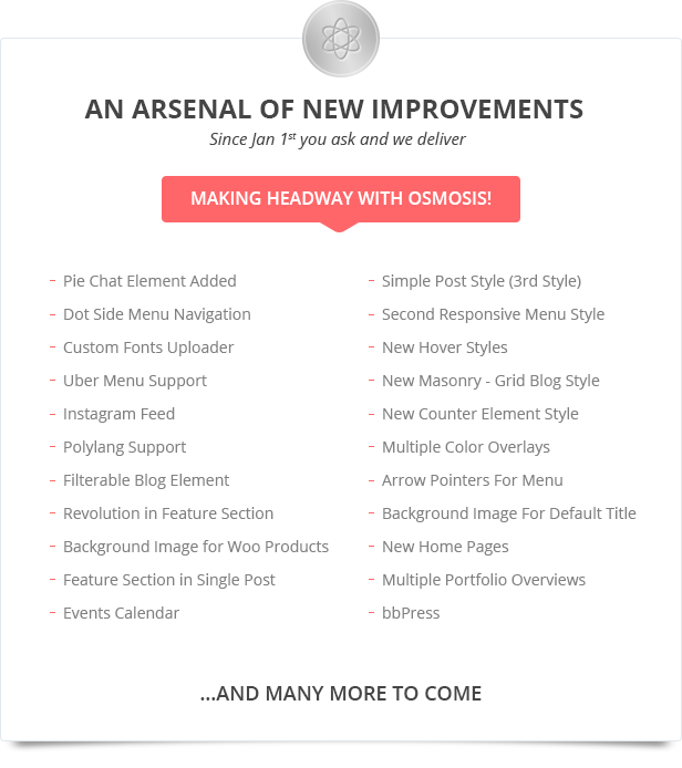 preview list - Osmosis - Responsive Multi-Purpose WordPress Theme