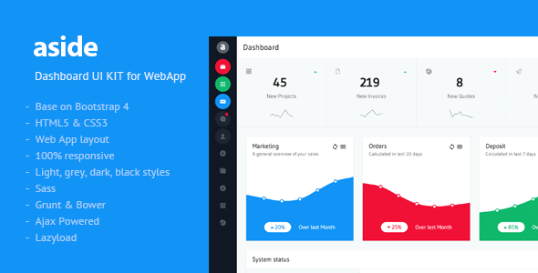 preview.  large preview - aside - Dashboard UI KIT
