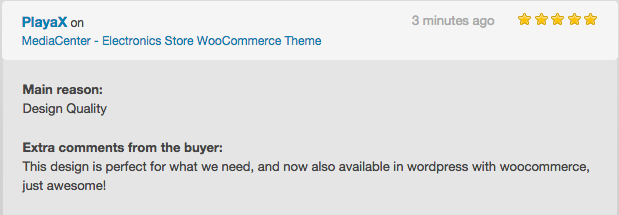 review 2 - MediaCenter - Electronics Store WooCommerce Theme