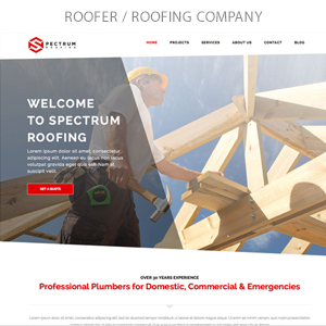 roofer - Spectrum - Multi-Trade Construction Business Theme