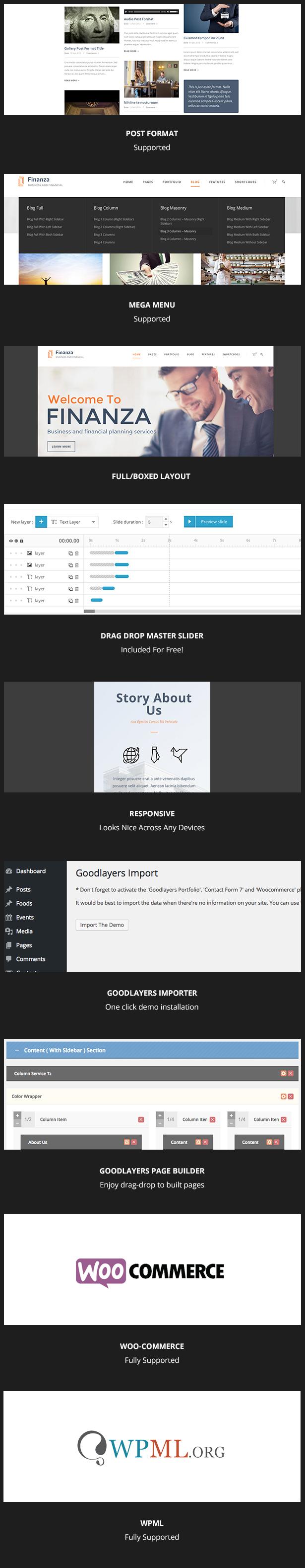 screen 1 - Finanza - Business & Financial WordPress