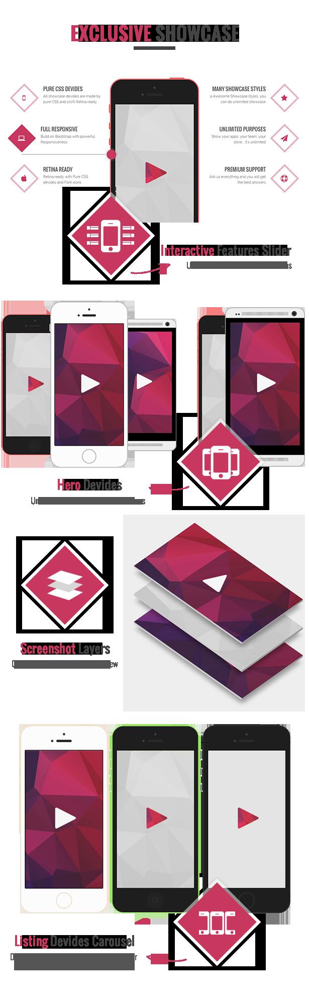 showcase devide - Applay - WordPress App Showcase & App Store Theme