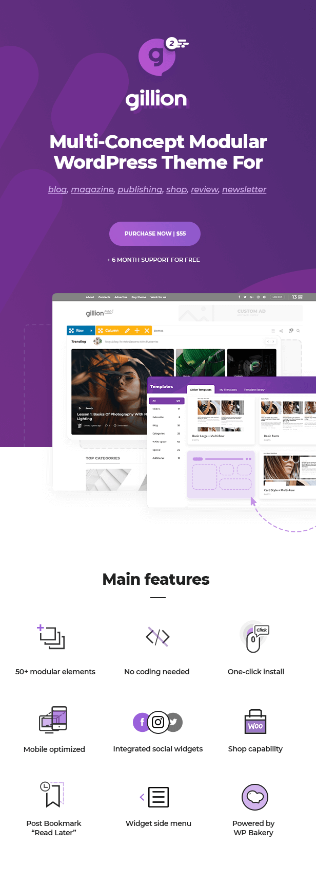 showcase1 - Gillion | Multi-Concept Blog/Magazine & Shop WordPress AMP Theme