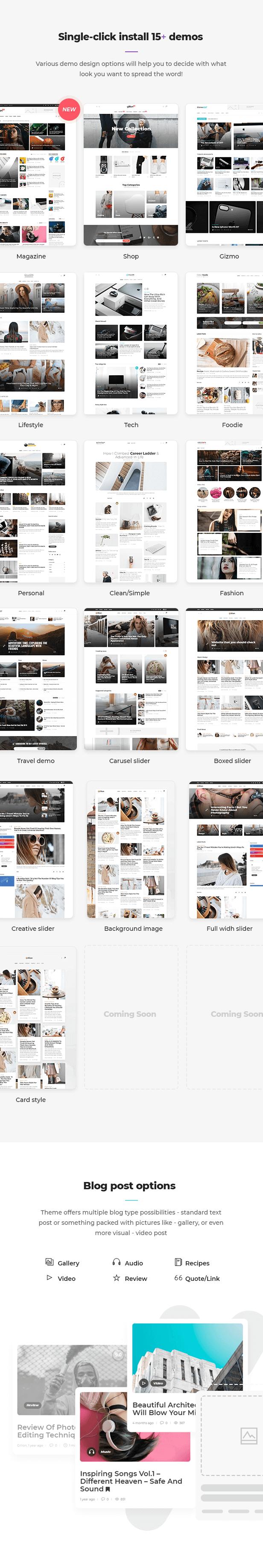 showcase2 - Gillion | Multi-Concept Blog/Magazine & Shop WordPress AMP Theme