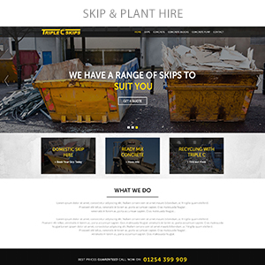 skip plant hire2 - Spectrum - Multi-Trade Construction Business Theme