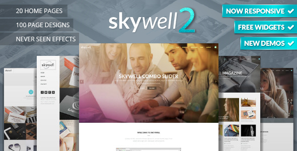 theme preview 2.  large preview - Skywell - MultiPurpose Adobe Muse Template