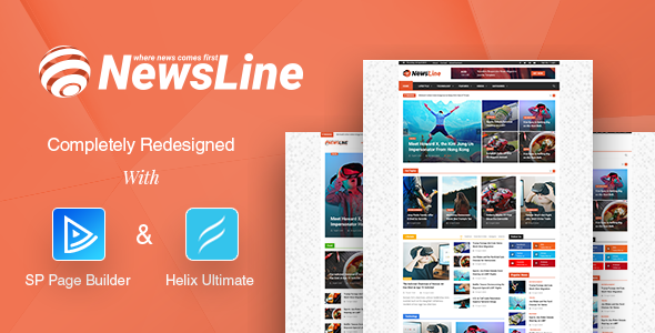 theme preview.  large preview - Newsline - Responsive Magazine Joomla Template