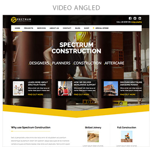 video angled - Spectrum - Multi-Trade Construction Business Theme