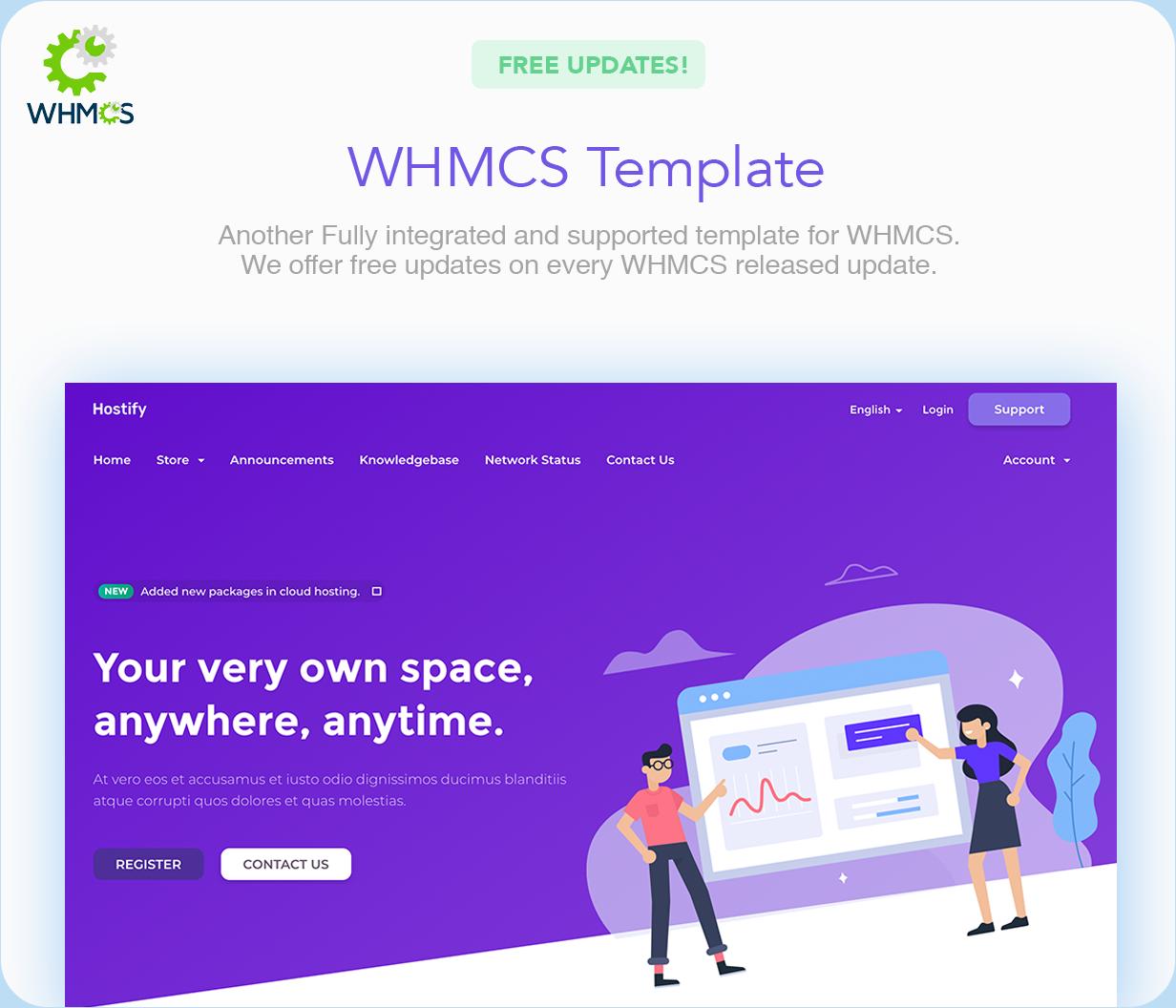 whmcs - Hostify — Hosting HTML & WHMCS Template