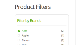 woocommerce brands filter feature - MediaCenter - Electronics Store WooCommerce Theme